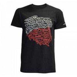 Koszulka Morowo Polska Mapa Junior czarna