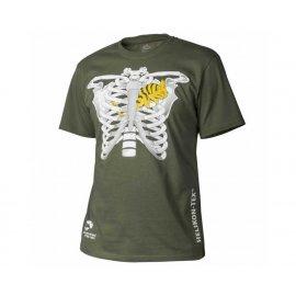 t-shirt Helikon kameleon w klatce piersiowej olive green