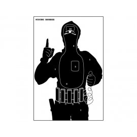 Tarcze sylwetkowe ZBROJOWNIA Terrorysta pakiet 10 szt