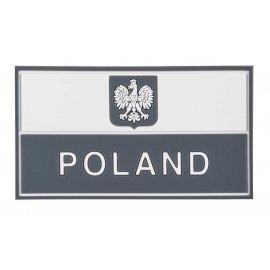 Emblemat Flaga PL z godłem (90 x 50 mm) Gaszona