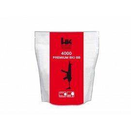 Kulki BB do ASG H&K Bio 0,25gr 6 mm 4000 szt. białe 054-015