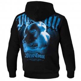 Bluza z kapturem Pit Bull Blue Eyed Devil VI - Czarna