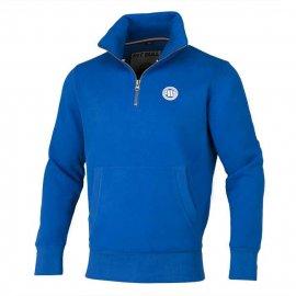 Bluza rozpinana 1/2 Pit Bull Small Logo - Niebieska