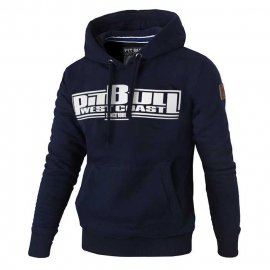Bluza z kapturem Pit Bull Classic Boxing - Granatowa