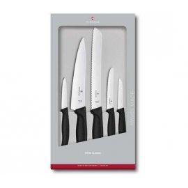 Noże kuchenne Victorinox - zestaw 5 elementów, czarny