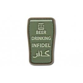 Naszywka GFC 3D - Beer Drinking Infidel Olive