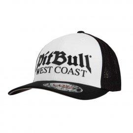 Czapka Pit Bull Full Cap Classic Mesh Old Logo - Biała/Czarna