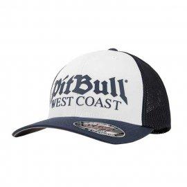 Czapka Pit Bull Full Cap Classic Mesh Old Logo - Biała/Granatowa