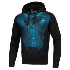Bluza z kapturem Pit Bull Classic Blue Eyed Devil - Czarna