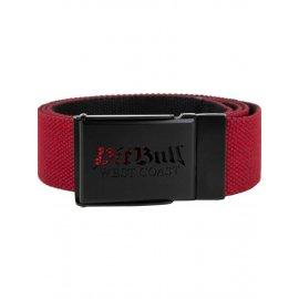 Pasek parciany Pit Bull Old Logo '21 - Czerwony/Czarny
