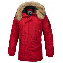 Zimowa kurtka z kapturem Pit Bull Alder '20 - Czerwona