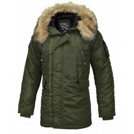 Zimowa kurtka z kapturem Pit Bull Alder '20- Oliwkowa