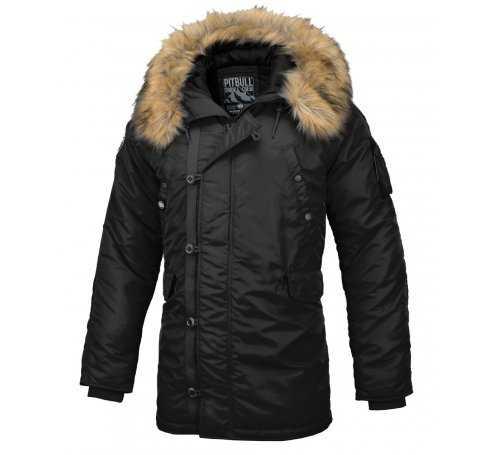 Zimowa kurtka z kapturem Pit Bull Alder - Czarna 529118.9000