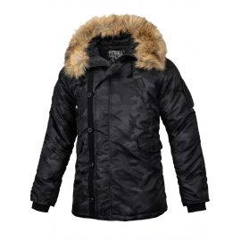 Zimowa kurtka z kapturem Pit Bull Alder - Black  Camo