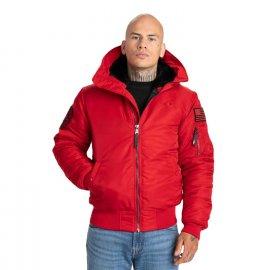 Kurtka zimowa z kapturem Pit Bull Encino '21 - Czerwona