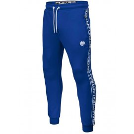 Spodnie dresowe Pit Bull Oldschool Tape Logo '21 - Niebieskie