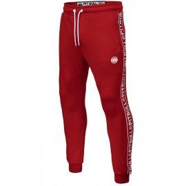 Spodnie dresowe Pit Bull Oldschool Tape Logo '21 - Czerwone