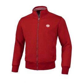Bluza rozpinana Pit Bull Oldschool Small Logo '21 - Czerwona