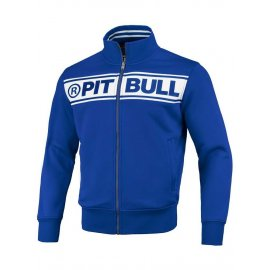 Bluza rozpinana Pit Bull Oldschool Chest Logo '20 - Niebieska