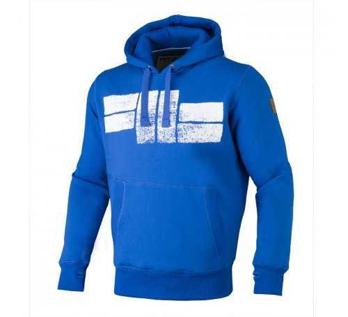 Bluza z kapturem Pit Bull Classic Logo - Niebieska 128024.5500