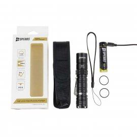 Latarka akumulatorowa Speras E1T Luminus SST40 1700 lumenów Zasięg  + akumulator o pojemności 3400 mAh