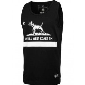 Tank Top Pit Bull Slim Fit Lycra Cal Flag'20 - Czarny