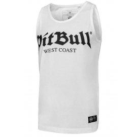 Tank Top Pit Bull Slim Fit Lycra Old Logo'20 - Biały