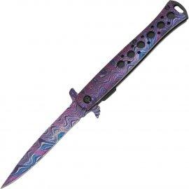 Nóż Sprężynowy Haller Stiletto Onehand Rainbow