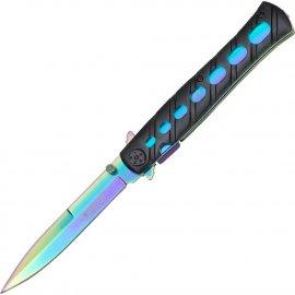 Nóż Sprężynowy Haller Stiletto Onehand Rainbow-Black