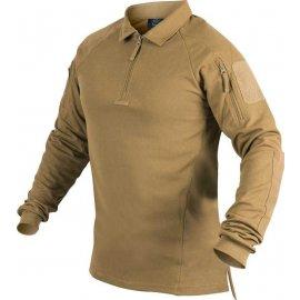 koszulka polo z długim rękawem Helikon RANGE - coyote