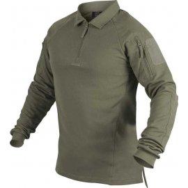 koszulka polo z długim rękawem Helikon RANGE - adaptive green