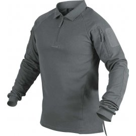 koszulka polo z długim rękawem Helikon RANGE - shadow grey