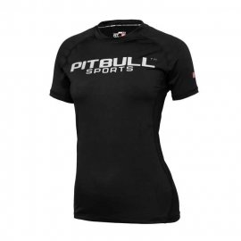 Rashguard termoaktywny damski Pit Bull Performance Pro Plus - Czarny