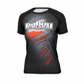 Rashguard termoaktywny damski Pit Bull Mesh Performance Pro Plus Polska - Czarny