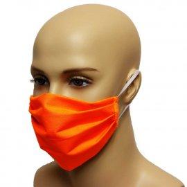 Maska bawełniana na twarz - orange