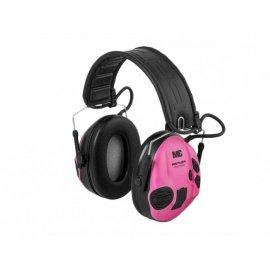 Ochronniki słuchu Peltor SportTac aktywne, zielono-różowe