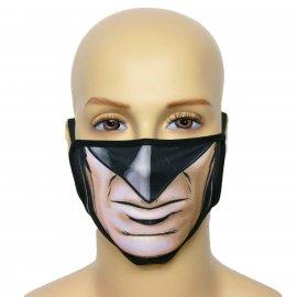 Maska na twarz z nadrukiem ZBROJOWNIA - Batman - czarna