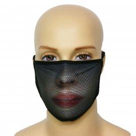 Maska na twarz z nadrukiem ZBROJOWNIA - Woman - czarna