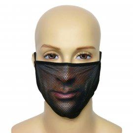 Maska na twarz z nadrukiem ZBROJOWNIA - Man - czarna