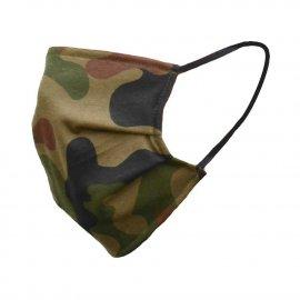 Maska bawełniana na twarz w kamuflażu - pl woodland