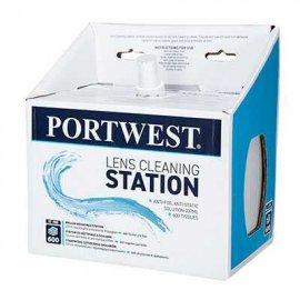 Stanowisko do czyszczenia okularów PA02 PORTWEST - białe