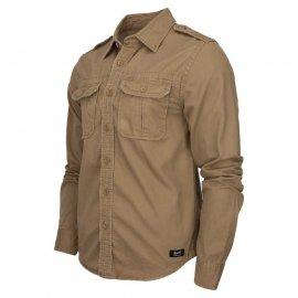 Koszula z długim rękawem BRANDIT Vintage Shirt - Piaskowa