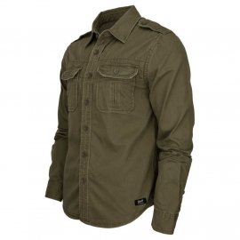 Koszula z długim rękawem BRANDIT Vintage Shirt - Oliv