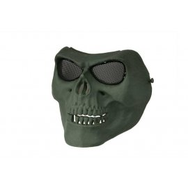 Maska na twarz Skull Style - olive green