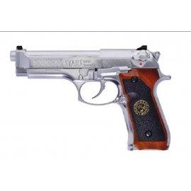 Pistolet 6mm WE M92 Biohazard Samurai Edge Silver