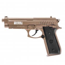 Wiatrówka Pistolet Swiss Arms Beretta P92 TAN Co2
