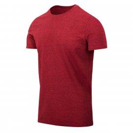 t-shirt Helikon Slim - Czerwony Melanż