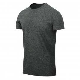 t-shirt Helikon Slim - Czarno-Szary Melanż