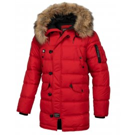Zimowa kurtka z kapturem Pit Bull Kingston '20 - Czerwona