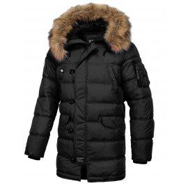Zimowa kurtka z kapturem Pit Bull Kingston '20 - Czarna
